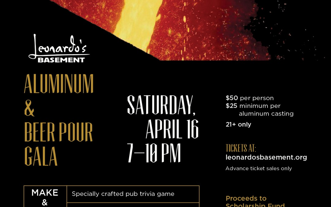 Tickets on sale for the Aluminum & Beer Pour Gala!