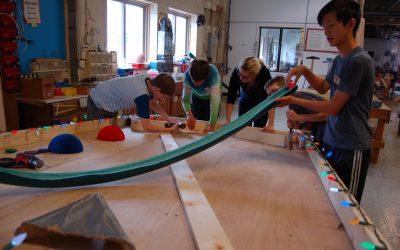 Collaborative pinball machine project brings smiles all around!
